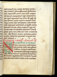 A Decorated Letter, in Gregory the Great's 'Homilies on Ezekiel' f.20r